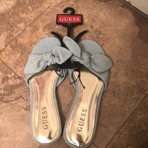 Guess Denim sandals! New!